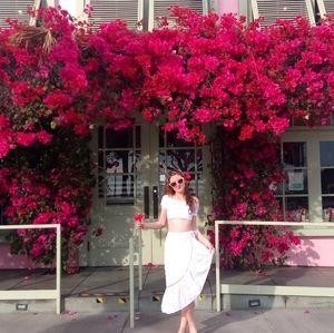 FARM RIO White Embroidered Floral Maxi Skirt XS